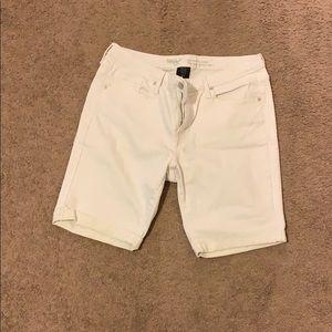 Mossimo White Bermuda Shorts